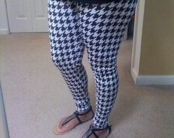 Black & white  print leggings