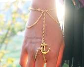 Gold (or Silver) Anchor Slave Bracelet