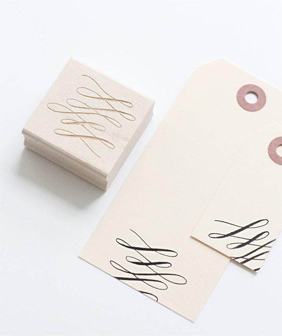 Flourish rubberstamp, modern calligraphy rubberstamp, flourish motif