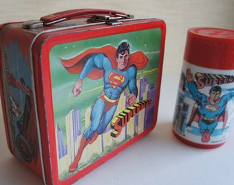 Vintage Superman Lunchbox and Thermos 1978