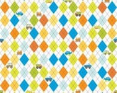 On the Go by Riley Blake Colorful Argyle Cotton Print 1 Yard