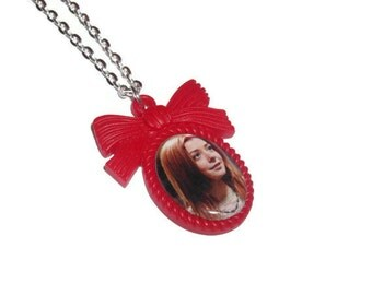 Willow Rosenberg Necklace, Buffy the Vampire Slayer Necklace, Red Cameo