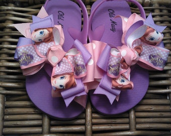 Sofia the First Princess Flip Flop Sandals