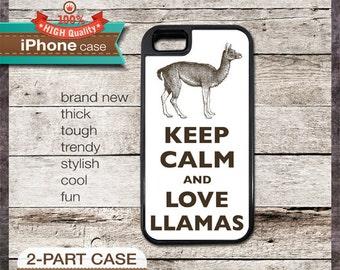 Keep Calm And Love Llamas - iPhone 6, 6+, 5 5S, 5C, 4 4S, Samsung Galaxy S3, S4