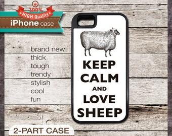 Keep Calm And Love Sheep - iPhone 6, 6+, 5 5S, 5C, 4 4S, Samsung Galaxy S3, S4