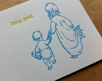Letterpress Mother's Day Card - Being Good.