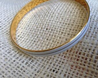 Vintage NAPIER Gold and White Bracelet