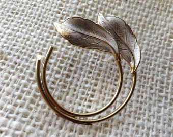 Vintage CORO Swaying  Leaves Pin Brooch
