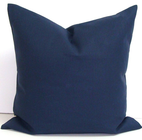 Solid Navy Blue Decorative Pillow : SOLID NAVY BLUE Pillow.24x24 inch Decorative by ElemenOPillows