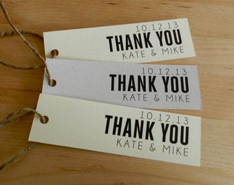 Personalized Thank You Tags - Wedding Favor - Heroic