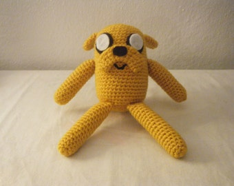 Sale!! Adventure Time Inspired Jake the Dog Doll Use code THNX2017 for 15% off