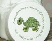 Custom Listing for Hattie - 22 Baby Shower Favors - Personalized Whipped Body Butter - Little Turtle