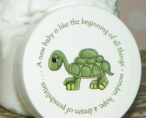 Baby Shower Favors - Personalized Whipped Body Butter - Little Turtle