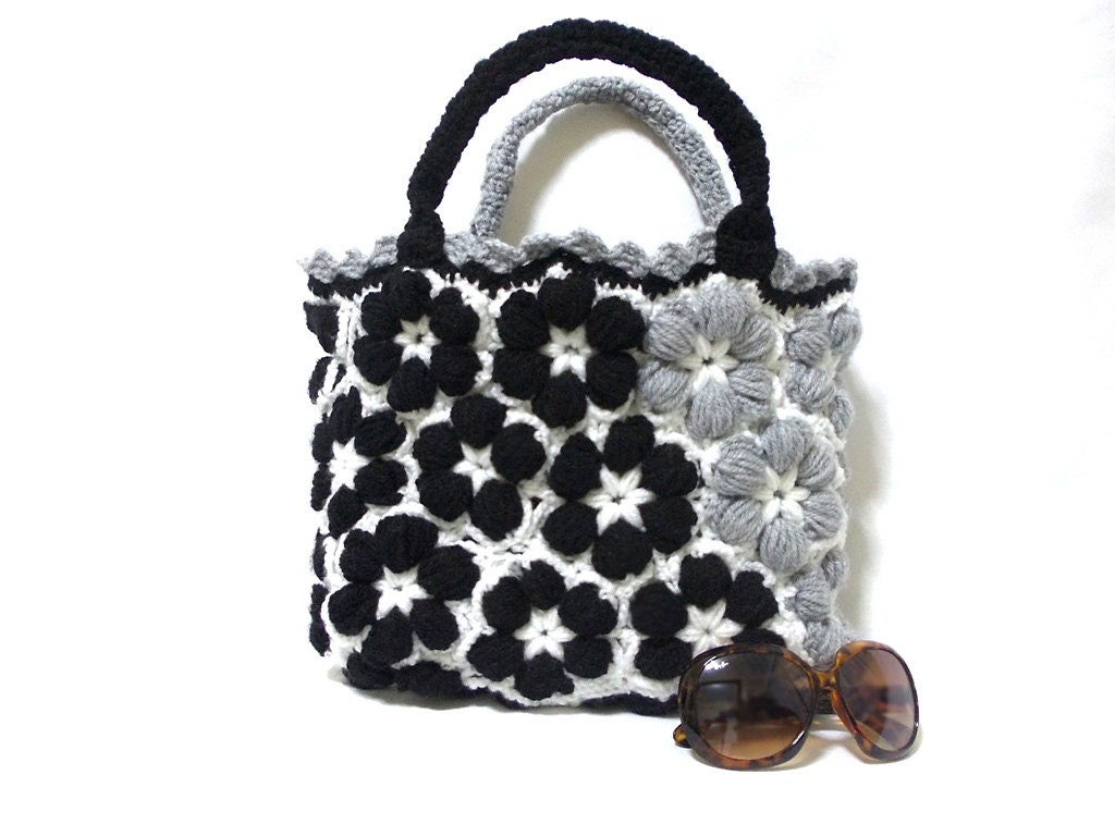 Crochet handmade bag Free Shipping-Grey women bag 2013 bags