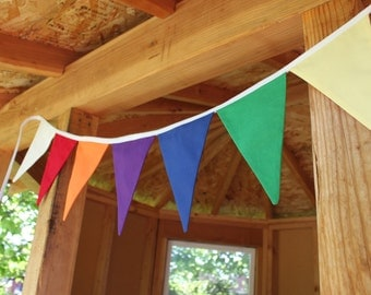 YW CAMP BUNTING -- girls' camp pennant fabric flag banner -- cabin tent fabric garland -- pennant garland -- party bunting -- 6+ feet