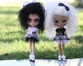 Black and White PARTY DRESS for Blythe