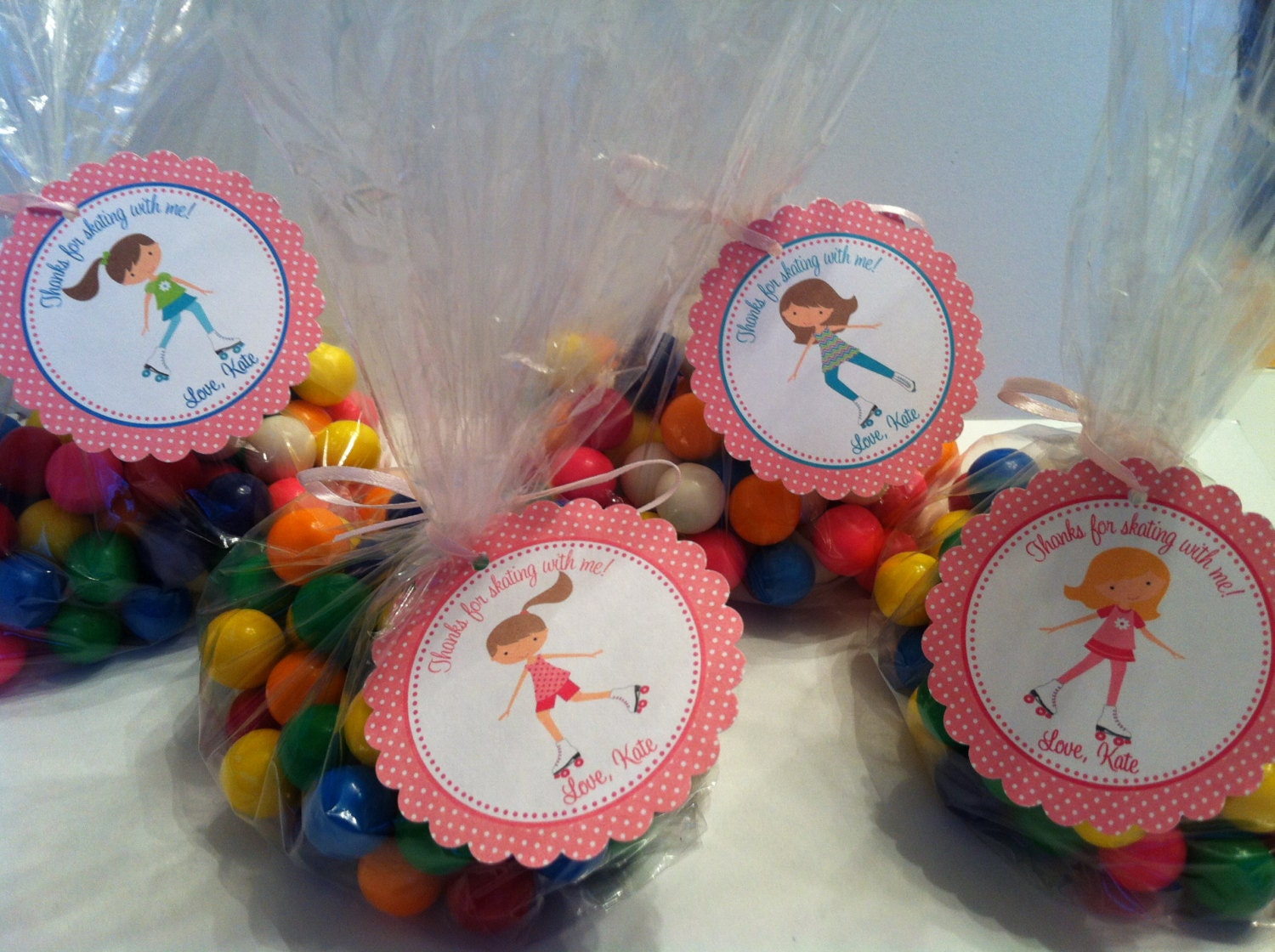 Roller skating party favors -
