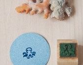 "Eco-friendly rubber stamp ""Mini-Octopus"""