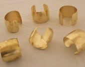 Set of 6 Domed Brass Bracelet Cuff Blanks For Jewelry Making 2 inch