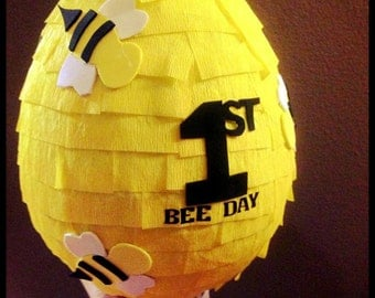 Buzzy Bee - Beehive Pinata - Personalized