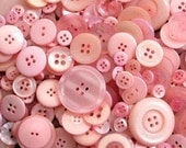 "100 Small Light Pink Bulk Sewing Buttons - bulk buttons in small sizes 1/4"" up to 5/8"", great for crafts, sewing, jewelry and more"