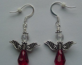 "1"" Angel Pierced Earrings"