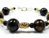Dark Gold with Black Swirls Bracelet