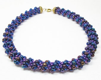 Purple Dutch Spiral Necklace