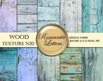 Digital Wood texture paper pack Shabby Chic wood Digital Backdrop painted wood scrapbook background digital paper wood Shabby Chic wood
