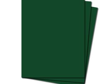 25 Green Premium Cardstock Sheets 8.5 x 11