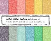 glitter texture digital backgrounds, pastel colors photography digital paper, rainbow instant download digital scrapbooking - 466