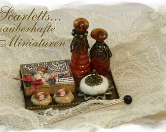 Ladys perfume tray OOAK Dollhouse scale 1/12