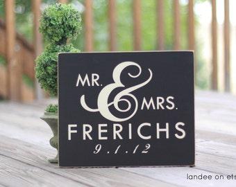 Mr. & Mrs.-- Custom Personalized Wedding or Anniversary Gift
