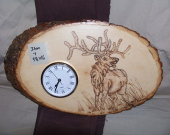 Attractive Rustic Log Clock/ Rustic Clock/ Rustic Decor/ Log Decor/ Cabin Decor/