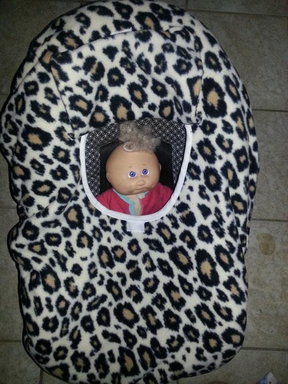 Fleece Cheetah Animal Print Baby Carrier By
