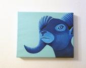 Acrylic Painting on Canvas - Original Art - Realistic Art - Blue Capricorn