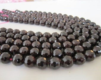"GB-1161 - Natural Faceted Garnet Gemstone Beads - 12mm - 16"" Strand"