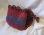 Felted Alpaca Shoulder Bag - Red, Blue, Violet