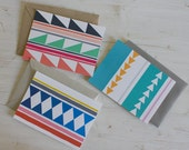 Little Geometries - Set of 3 Blank Cards