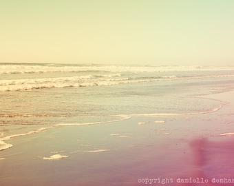Beach Photography Oregon Coast Ocean Pastel--Fine Art Lomography 8x12