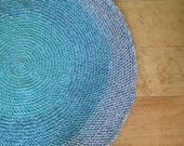 Reserved Listing- 4 1/2 Foot Crochet Round Rug- Beach Blues
