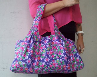 Purple bouquet purse
