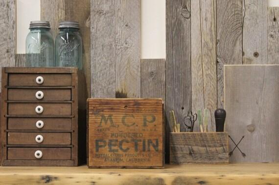 Vintage M.C.P Pectin Wooden Crate