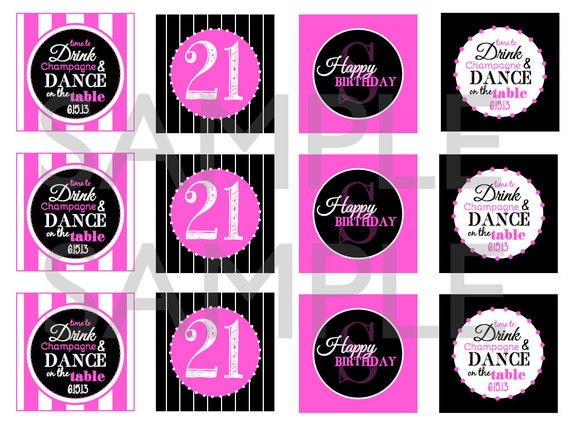 Items Similar To 21st Birthday Printable Cupcake Toppers