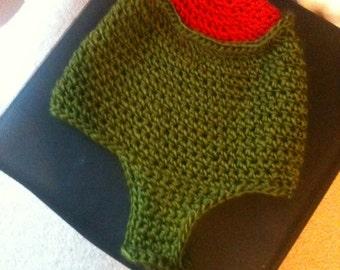 Olive Chin strap hat Pattern Sizes newborn to adult