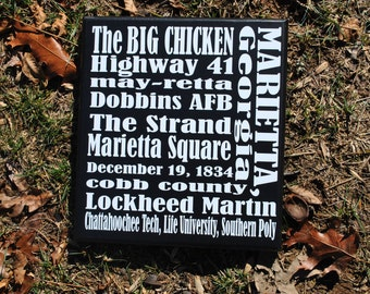 Favorite Town Subway Sign:  Marietta, Georgia