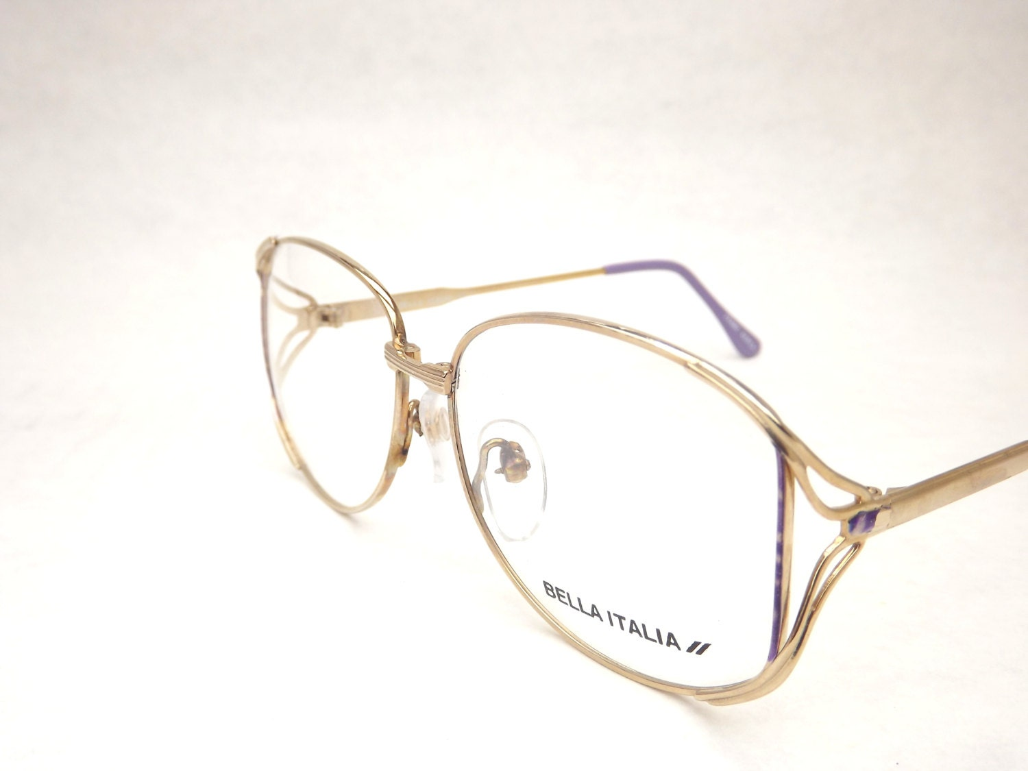 Gold Metal Glasses Frames : Womens Gold Eyeglasses Gold Metal Glasses Lavender Purple
