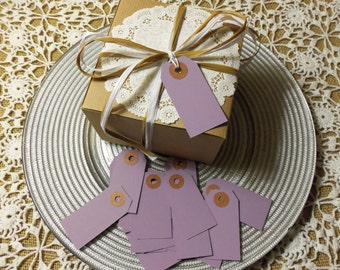 "Lavender Tags, Purple Tags, 50 LAVENDER Tags,  Small, 2 3/4"" x 1 3/8"" - Gift, Parcel, Wish Tags, Blank"