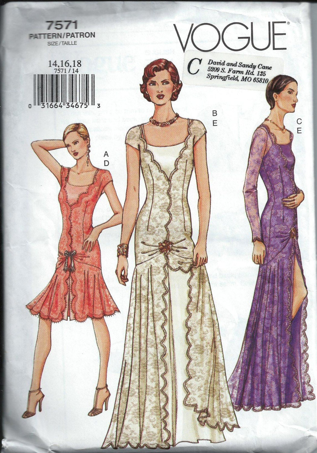 Gorgeous 1920's Style Flapper Dress Pattern by ...