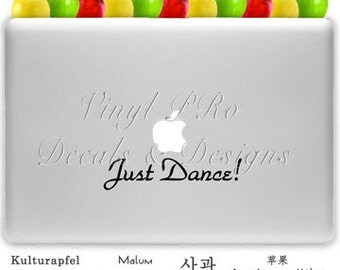 Dance Decal Ballet Hip Hop Jazz Swing Salsa Ballroom for Macbook or Laptop Decal